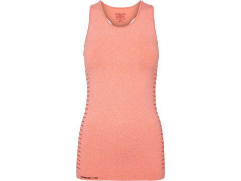 Pure Lime Seamless Tank Top Coral