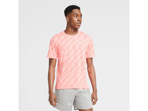 Nike Miler Jacquard Short Sleeve Mens Running Top