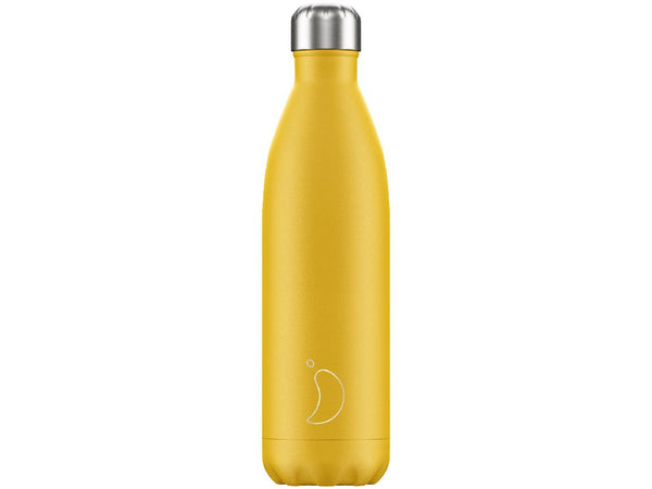 Chillys Bottle 750ml BURNT YELLOW Matte Edition