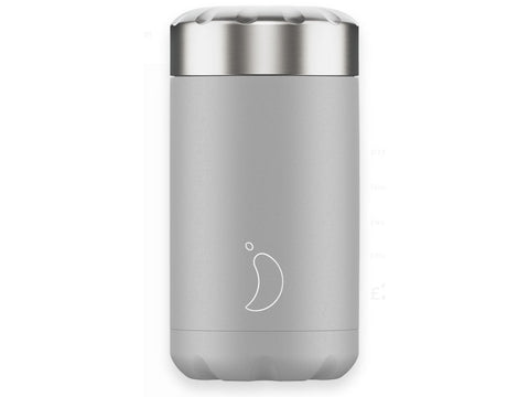 Chillys Food Flask LIGHT GREY MONOCHROME EDITION (500ml)