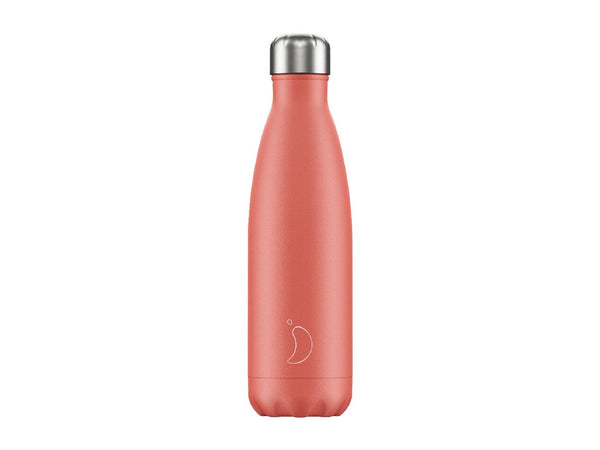 CHILLY'S BOTTLE 500ml CORAL PASTEL EDITION