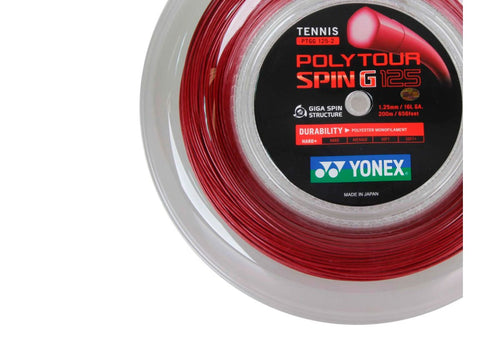 YONEX POLY TOUR SPIN 1.25MM MONOFILAMENT TENNIS STRING