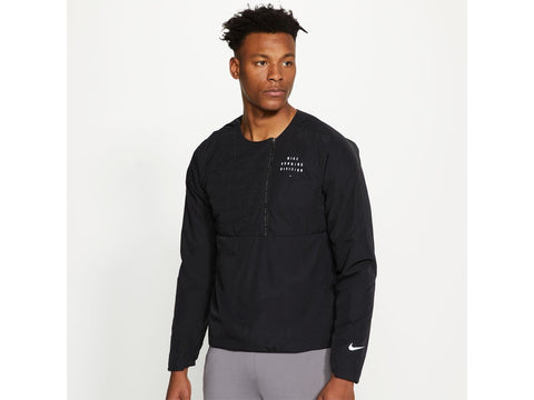 Nike Run Division Mens Quarter Zip Padded Running Jacket