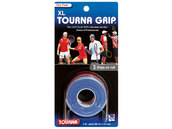 Tourna Grip TAC (sticky feel) XL Overgrip Pack of 3 Blue