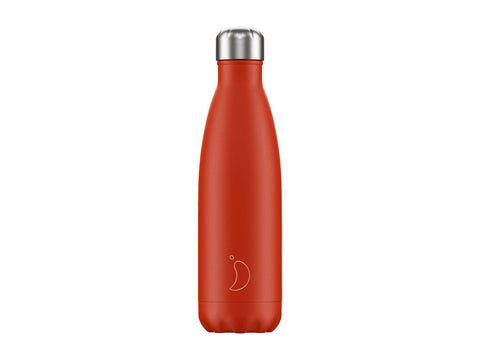 Chillys Bottle 500ml RED NEON EDITION