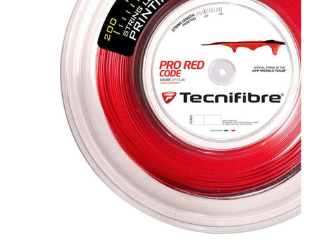 TECNIFIBRE PRO RED CODE 1.25 MM MONOFILAMENT TENNIS STRING