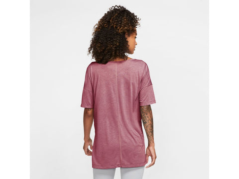 Nike Yoga Womens Short Sleeve Top