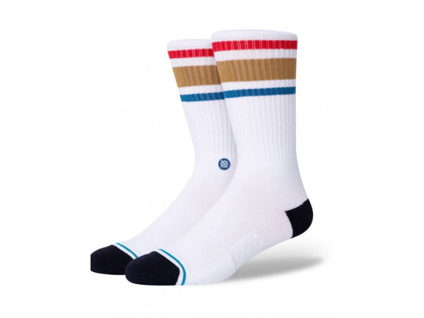 STANCE STAPLES BOYD ST WHITE BROWN SOCK