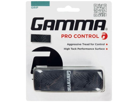 Gamma Pro Control Replacement Tennis Racket Grip Black