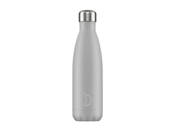 Chillys Bottle 500ml MONOCHROME PALE GREY EDITION