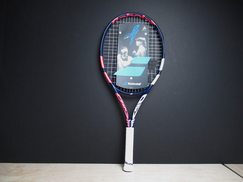 Babolat Drive 25 Inch Junior Tennis Racket 2021 (Blue Pink)
