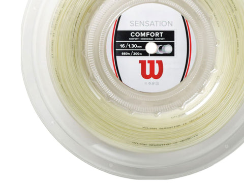 WILSON SENSATION 16 1.30 MM SYNTHETIC GUT TENNIS STRING