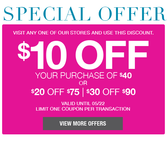 Special Offer $10 Off $40