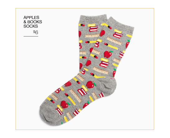Apples & Books Socks