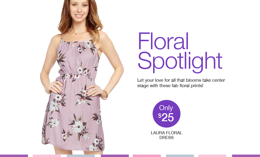 Floral Spotlight. Let your love for all that blooms take center stage with these fab floral prints!