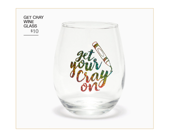 Get Cray Wine Glass