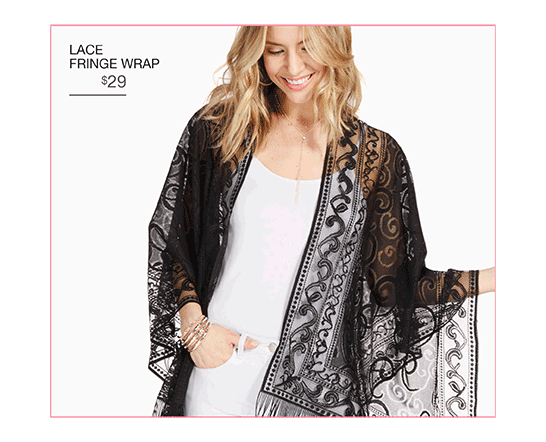 Lace Fringe Wrap