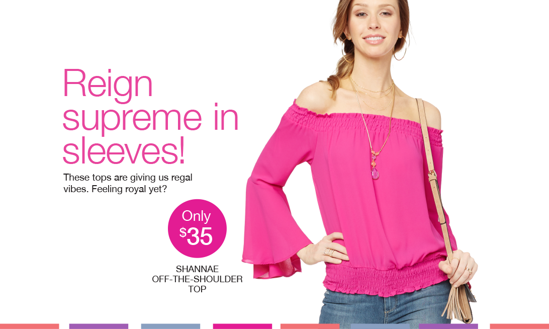 Reign supreme in sleeves! These tops are giving us regal vibes. Feeling regal yet?