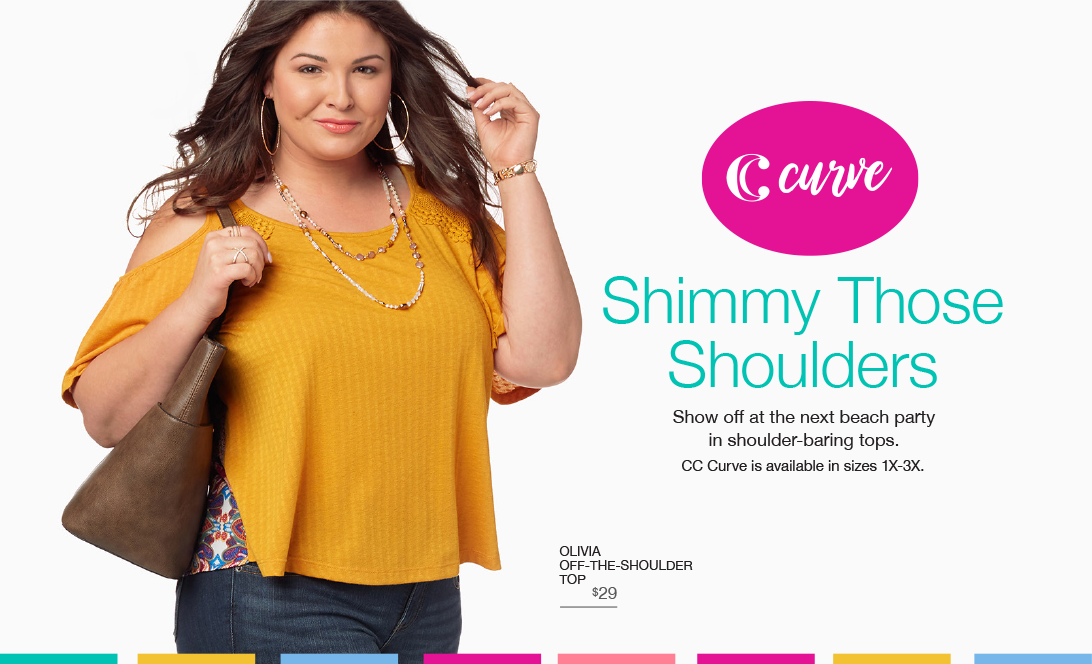 Shimmy Those Shoulders. Show off at the next beach party in shoulder-baring tops.