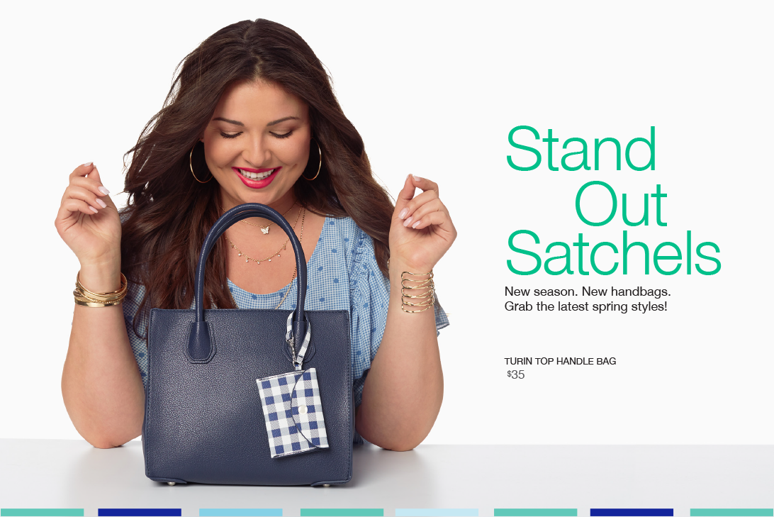 Stand Out Satchels. New season. New handbags. Grab the latest new styles!