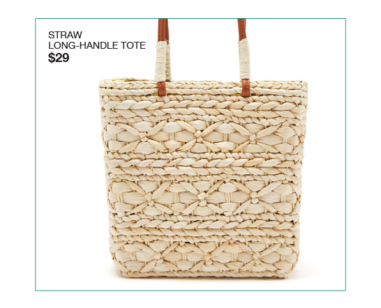 Straw Long-Handle Tote