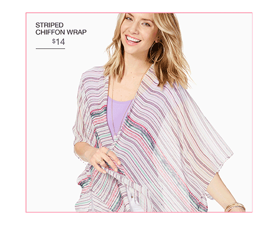 Striped Chiffon Wrap