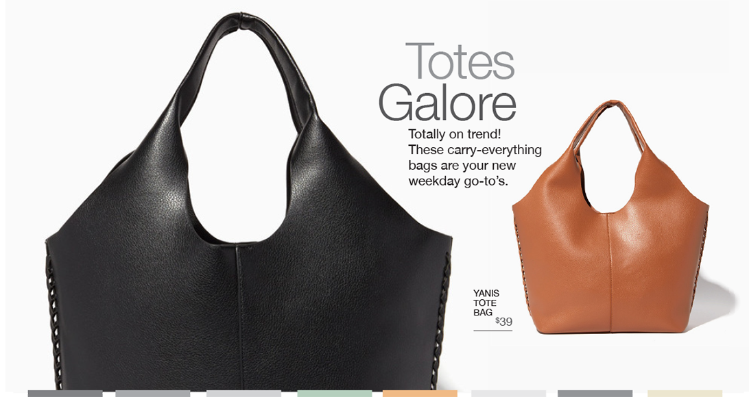 Totes Galore. Totally on trend! These carry everything bags are your new weekday go-tos