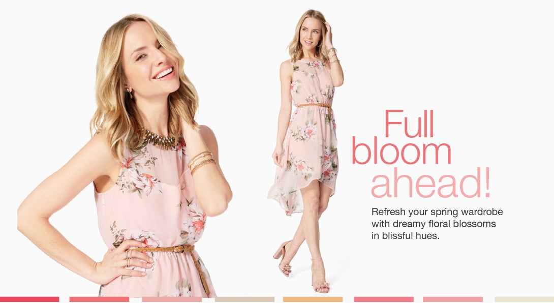 Full bloom ahead! Refresh your spring wardrobe with dreamy floral blossoms in blissful hues