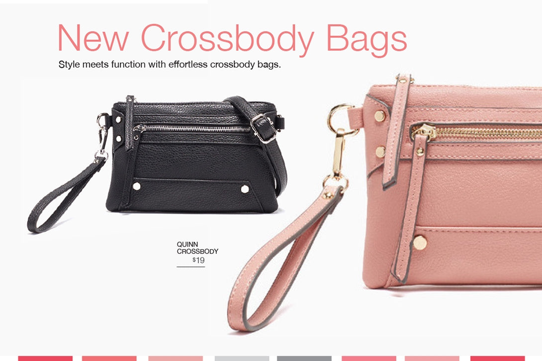 New crossbody bags. Style meets function with effortless crossbody bags