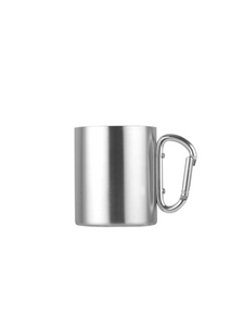 camping coffee cup silver steel
