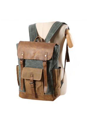 Bushcraft Survival Pack Leather Backpack