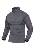 grey long sleeve tactical top military