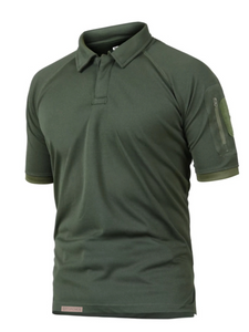 mens tactical collar style fast dry shirt army green