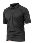 Mens tactical style collar Shirt black