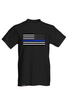back the blue law enforcment shirt black