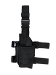 black drop down leg holster small arms