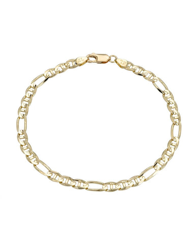 Made In Italy 14K Gold Unisex Bracelet Weight 6.7g. Length 8 in Free US Shipping