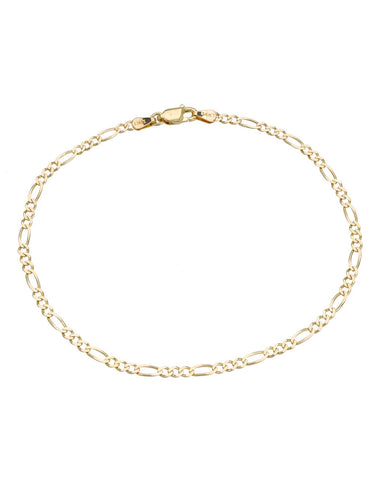 14K Gold Ladies anklet Weight 3.0g. Length 9 in Free US Shipping