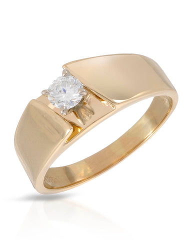 WHITEHALL 0.35 CTW G SI2 Round Diamond 14K Gold Solitaire Ladies Ring Size 9.5