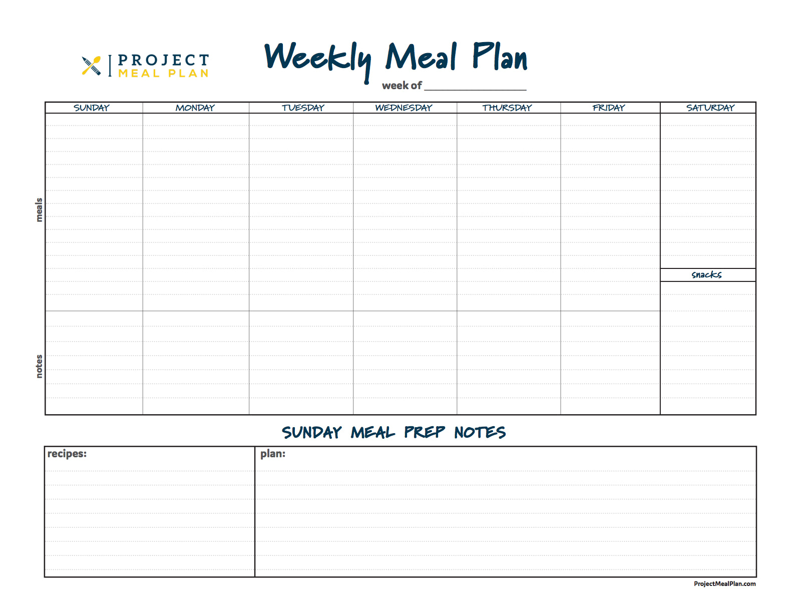 reusable meal planner bundles from project meal plan
