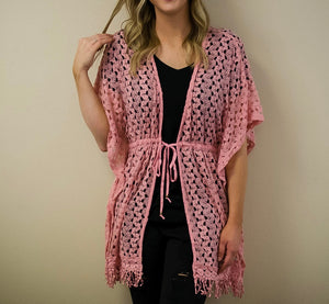 Blush Crochet Cardigan