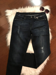 Distressed Comfy Fit Denim Jean