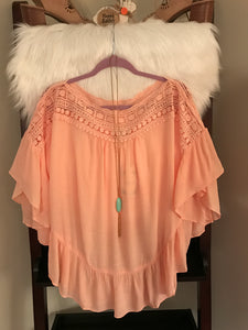 Light Peach Crochet Top