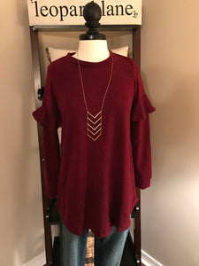 Burgundy Tunic Sweater