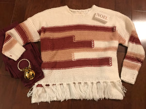 Boho-inspired Sweater