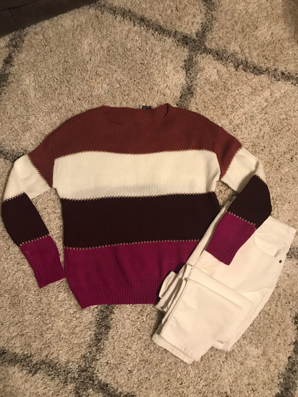 3-Layer Pullover Sweater