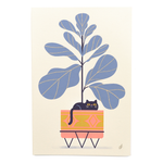 Fiddle Leaf Feline - Screen Print