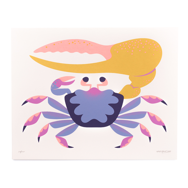 Fiddler Crab - Screen Print