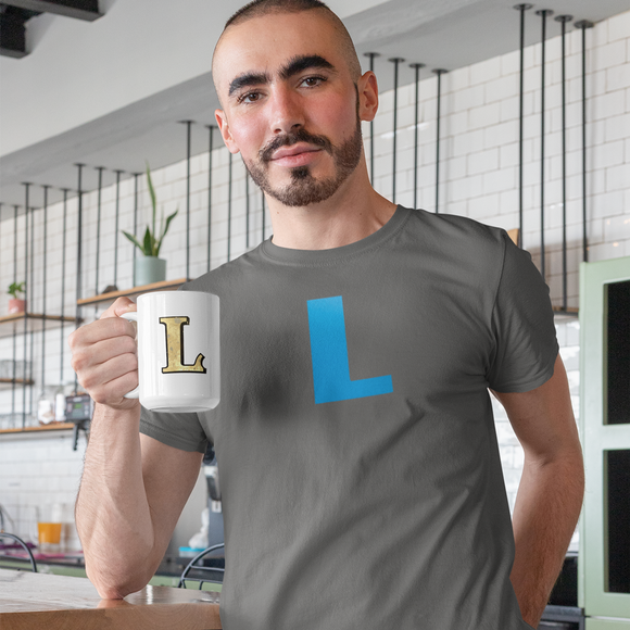 Letter L Typographic T-Shirt (L No. 17)