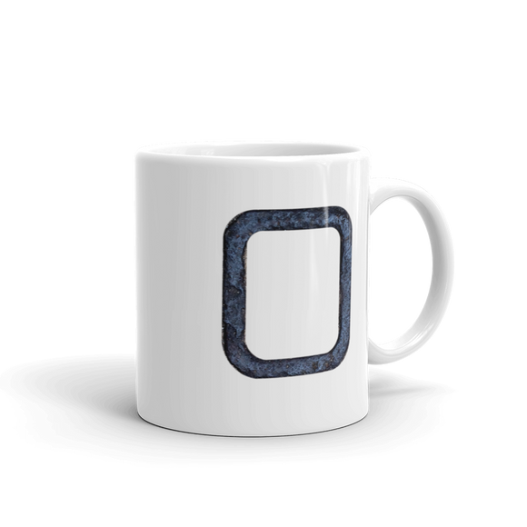 Letter O Typographic Coffee Mug (O No. 1)